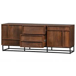 Hoorns Masivní mangový TV stolek Woods 140 x 42 cm