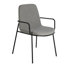 Světle šedá látková jídelní židle LaForma Giulia