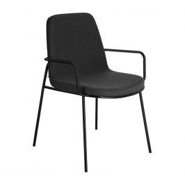 Tmavě šedá látková jídelní židle LaForma Giulia