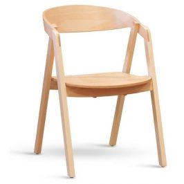 SitBe Přírodní bukové křeslo Henry Židle do kuchyně