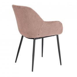 Růžová manšestrová jídelní židle LaForma Konna