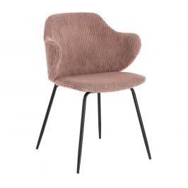 Růžová manšestrová jídelní židle LaForma Suanne Židle do kuchyně