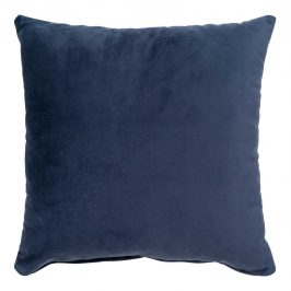 Nordic Living Tmavě modrý sametový polštář Limo 40 x 40 cm