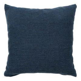 Nordic Living Tmavě modrý látkový polštář Limo 40 x 40 cm