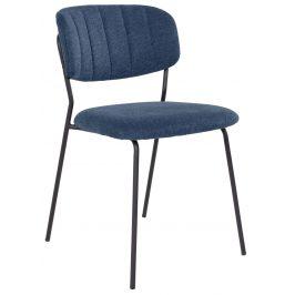 Modrá látková jídelní židle Nordic Living Alica
