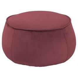 SCANDI Malinově růžový sametový taburet Mieno 60 cm