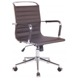 DMQ Tmavě hnědá prošívaná kancelářská židle Lexus II.