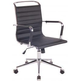 DMQ Černá prošívaná kancelářská židle Lexus II.