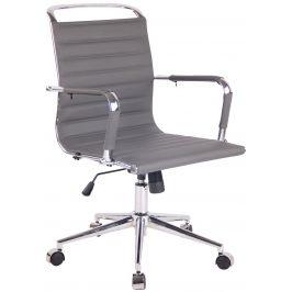 DMQ Šedá prošívaná kancelářská židle Lexus II.