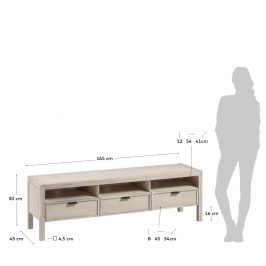 Akátový TV stolek LaForma Alen 165 x 45 cm