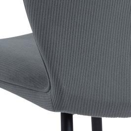 SCANDI Šedá sametová jídelní židle Evelen