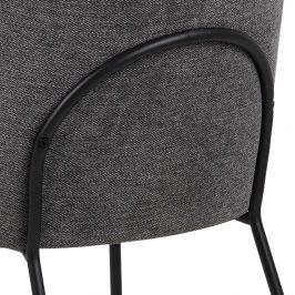 SCANDI Antracitová látková jídelní židle Bjorn