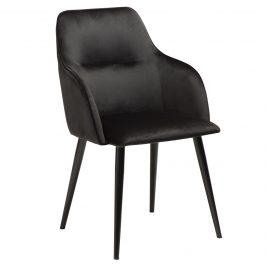 DAN-FORM Černá sametová jídelní židle DanForm Urban Židle do kuchyně