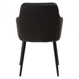 DAN-FORM Černá sametová jídelní židle DanForm Urban