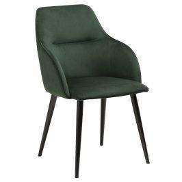 DAN-FORM Zelená sametová jídelní židle DanForm Urban