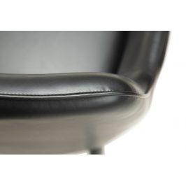 DAN-FORM Černá koženková jídelní židle DanForm Urban