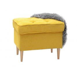 Design Project Žlutá látková podnožka Donna
