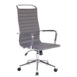 DMQ Šedá prošívaná kancelářská židle Lexus III.