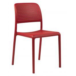 SitBe Červená plastová zahradní židle Loft Židle do kuchyně