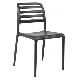 SitBe Antracitově šedá plastová zahradní židle Beno