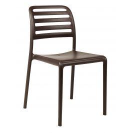 SitBe Kávově hnědá plastová zahradní židle Beno