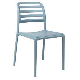 SitBe Světle modrá plastová zahradní židle Beno
