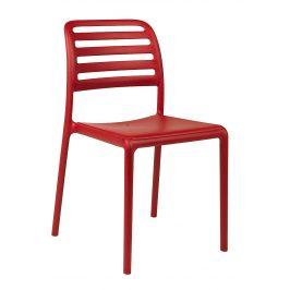 SitBe Červená plastová zahradní židle Beno Židle do kuchyně