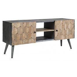 Černý dřevěný televizní stolek Bizzotto Kendric 130 x 40 cm