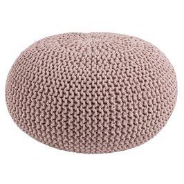 Starorůžový pletený puf Bizzotto Pouffe 80 cm