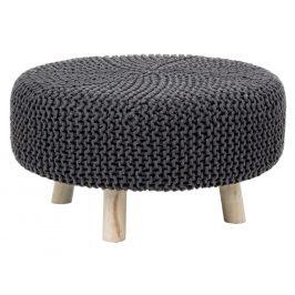 Černý pletený taburet Bizzotto Braid 60 cm