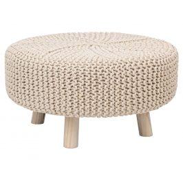 Béžový pletený taburet Bizzotto Braid 60 cm