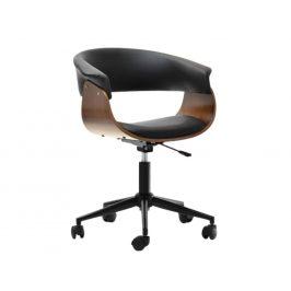 Design Project Černá ořechová kancelářská židle Rapido II.