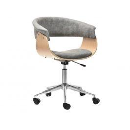 Design Project Šedá dubová kancelářská židle Rapido II.