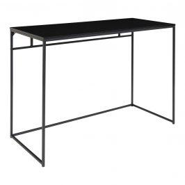 Nordic Living Černý kovový pracovní stůl Winter 100 x 45 cm