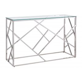 Stříbrný kovový toaletní stolek Bizzotto Rayan 120 X 40 cm