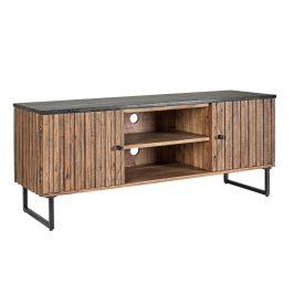 Hnědý akátový TV stolek Bizzotto Norfolk 130 x 40 cm