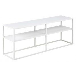SCANDI Bílý TV stolek Renna 120x46 cm
