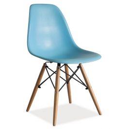 Jídelní židle v modré barvě KN166
