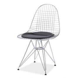 Praktická jídelní židle z pochromovaného kovu typ A KN1002
