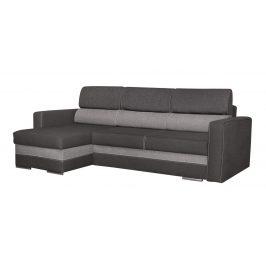 Rozkládací rohová sedačka s úložným prostorem v černé a šedé barvě KN201
