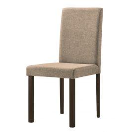 Jídelní židle s čalouněním ve světle hnědé látce KN1210