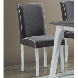 Měkká jídelní židle s čalouněním z látky v šedé barvě KN1218