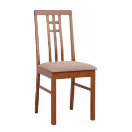 Židle v jednoduchém moderním provedení hnědá SILAS