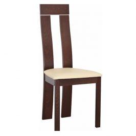 Dřevěná židle v luxusním ořechovém provedení hnědá DESI