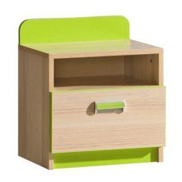 Noční stolek v jednoduchém moderním provedení zelený EGO L12