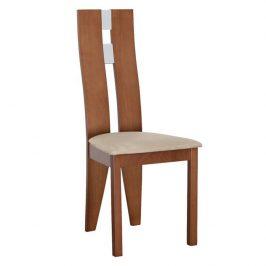 Dřevěná židle v jednoduchém moderním provedení hnědá BONA