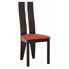 Dřevěná židle v jednoduchém moderním provedení wenge BONA