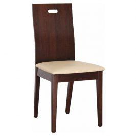Dřevéná židle v jednoduchém bukovém provedení hnědá TK2007