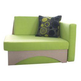 Rozkládací křeslo v moderním designu zelená KUBOŠ pravá