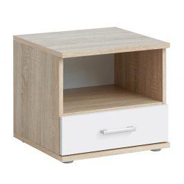 Noční stolek v jednoduchém moderním designu bílá EMIO Typ 05